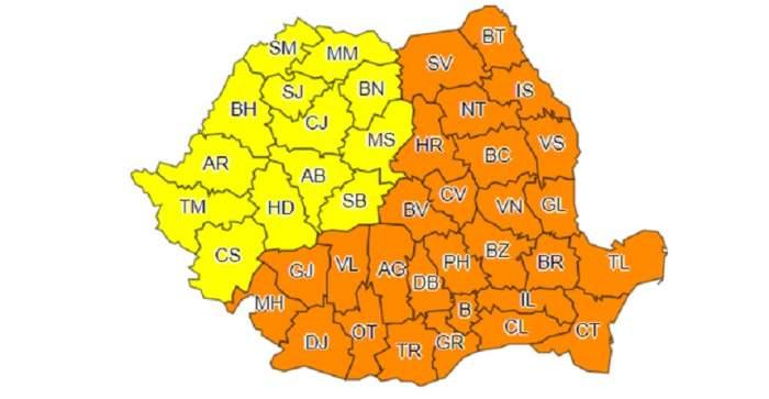 Anunţ alarmant de la meteorologi. România, sub cod portocaliu şi galben de ninsori abundente şi ger, până pe 1 martie