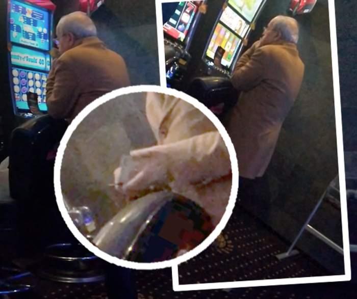 """Video paparazzi / Un artist de la noi se plânge că nu are bani, dar """"rupe"""" păcănelele!"""