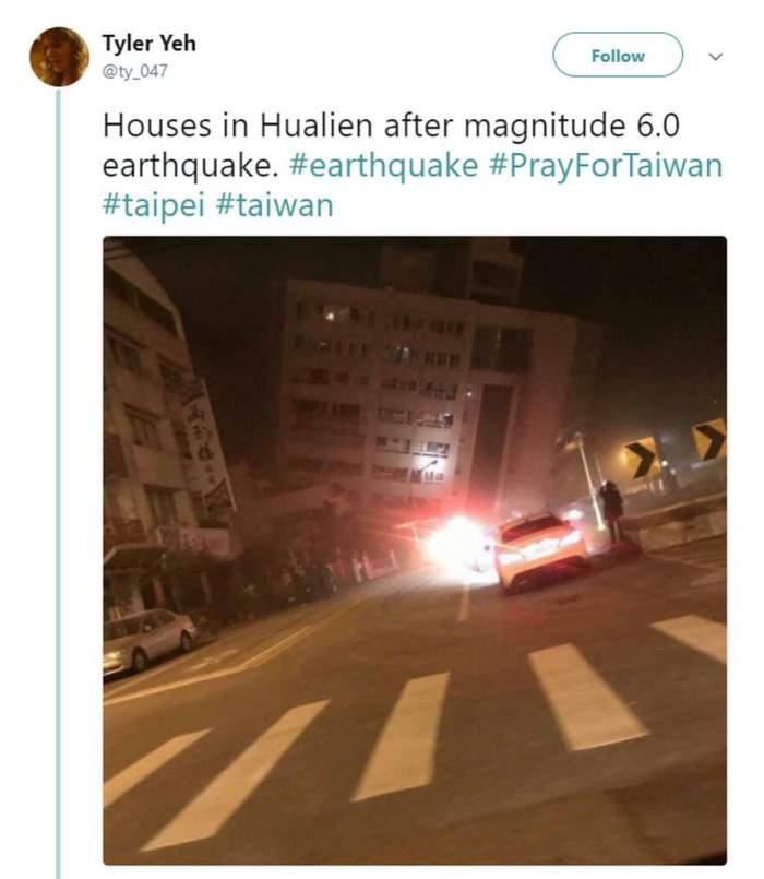 VIDEO / Cutremur cu magnitudinea 6,4 în Taiwan. Un hotel s-a prăbuşit în urma seismului