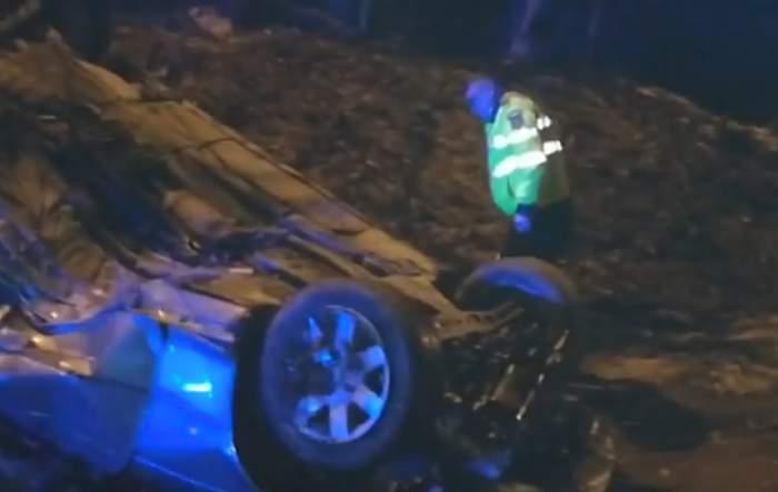 VIDEO / Accident ca-n filmele de acţiune la Iaşi! A rupt maşina în două şi s-a făcut nevăzut