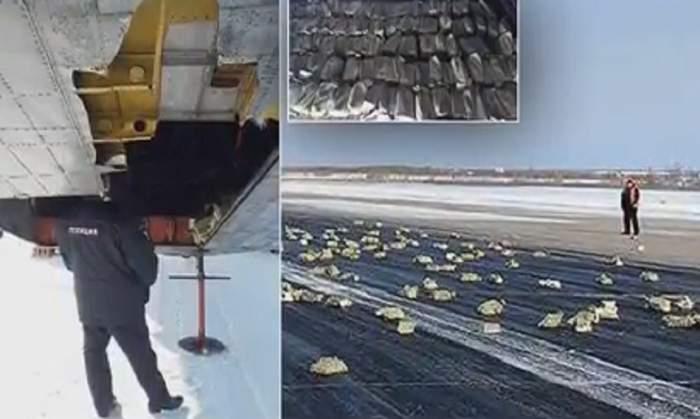 A plouat cu diamante, la propriu! Un avion a pierdut o încărcătură inestimabilă după ce trapa s-a rupt