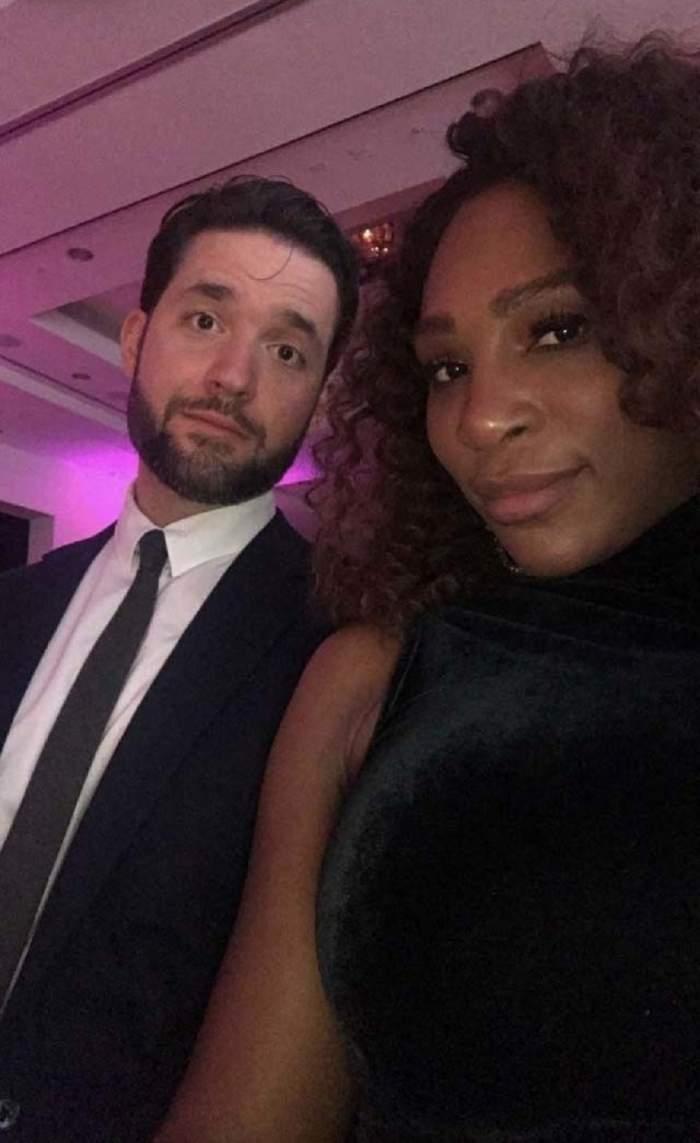 """FOTO / Serena Williams, momente adorabilealături de soț și fetiță. """"Ne distrăm cu tati"""""""