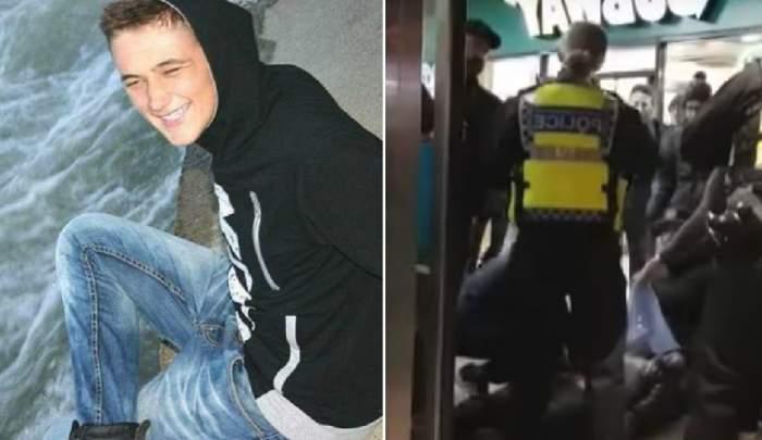 VIDEO / Imagini dureroase cu românul mort, după ce a fost înjunghiat într-un centru comercial din Londra. Prietenii îl plâng pe Beniamin