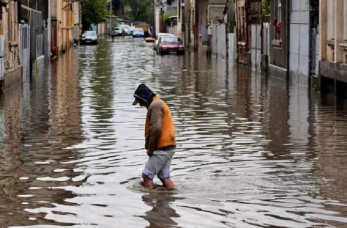 Cod galben! Pericol de inundații pentru 11 județe, până miercuri
