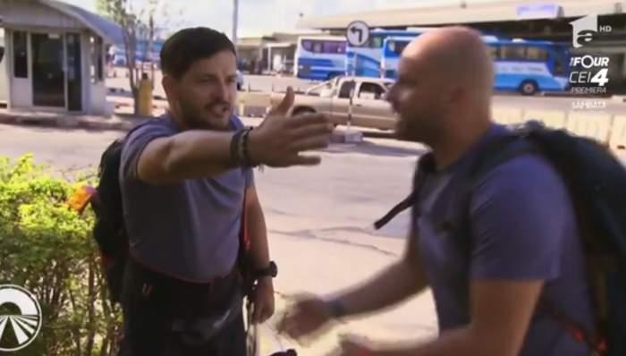 """VIDEO / Andrei Ștefănescu și Liviu Vârciu, criză de nervi în stradă, la Asia Express.""""Mai vrei să mai continuăm?"""""""