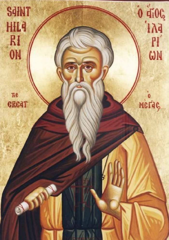 Sfântul Cuvios Ilarion, prăznuit pe 28 martie! Rugăciunea pe care trebuie să o spui pentru a-ţi merge bine
