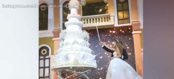 VIDEO / Nuntă mare în lumea bună. Sute de mii de euro s-au investit în cel mai tare eveniment al anului