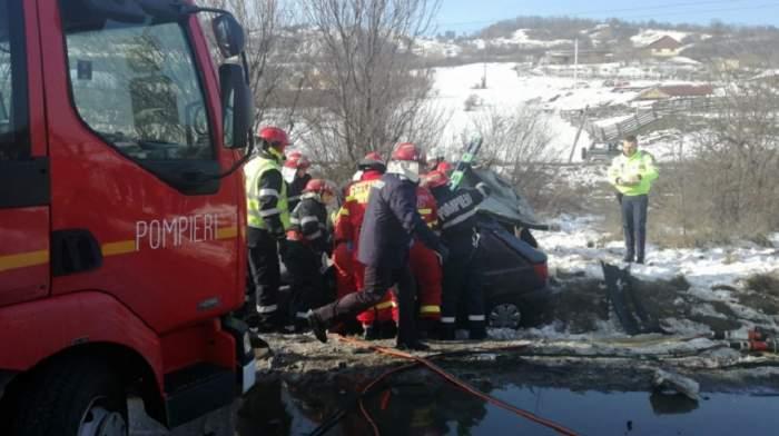 Accident mortal în Bistriţa! Un bărbat a murit, iar alte şase persoane sunt rănite