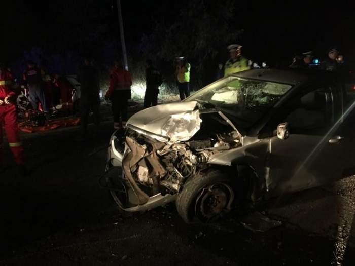 Impact mortal în județul Galați! O fată de 19 ani a murit într-un accident rutier provocat de iubitul ei, băut