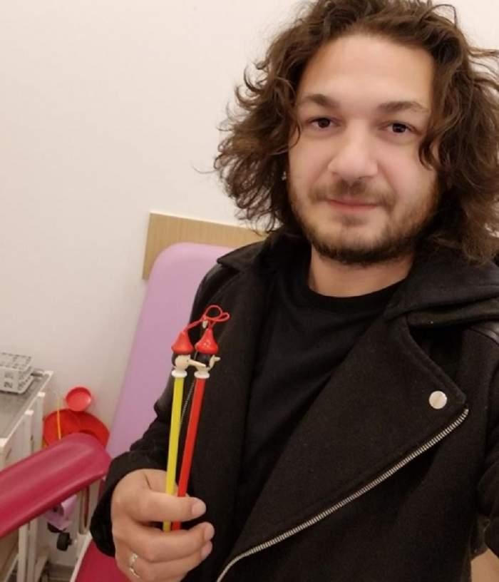 """FOTO / Sărbătoare în familia lui chef Florin Dumitrescu: """"Am înţeles puterea rozului în viaţa unui bărbat!"""""""