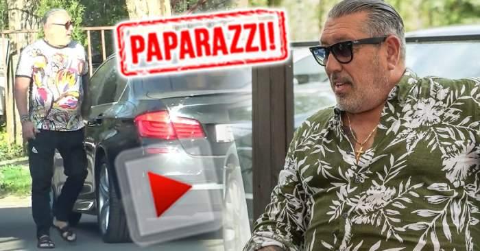 VIDEO PAPARAZZI / Serghei Mizil s-a dat în spectacol într-un restaurant de fiţe! În trening şi în şlapi, la ziua unui prieten