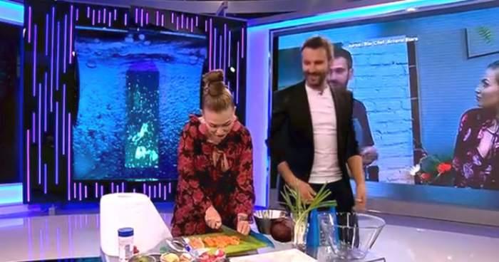 VIDEO / Oana Radu, pusă să gătească în direct. S-a făcut de ruşine sau a trecut proba cu brio?