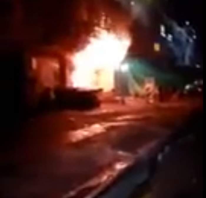 VIDEO / 18 oameni au ars de vii într-un club de karaoke! Cel care a provocat focul a blocat singura ieşire cu o motocicletă