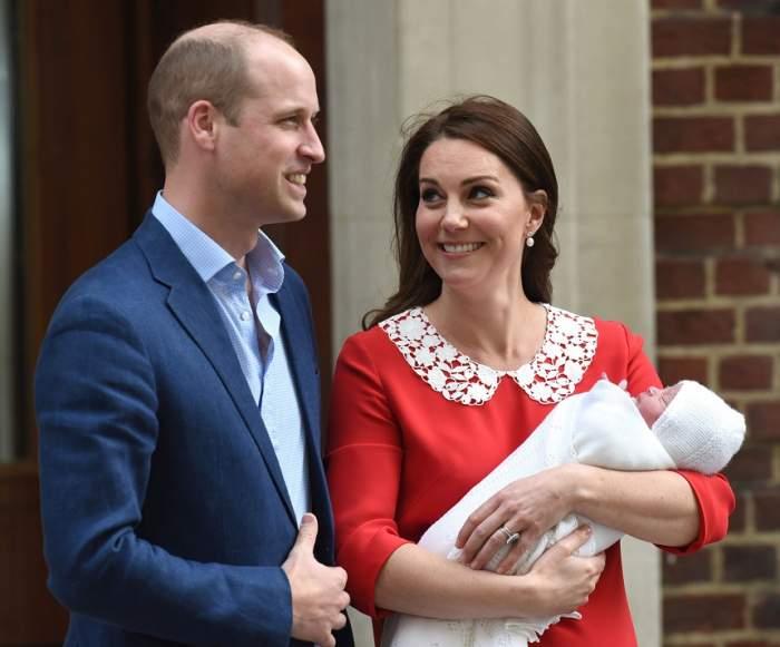 S-a aflat numele bebelușului regal! Cum se numeşte cel de-al treilea copil născut de Kate Middleton