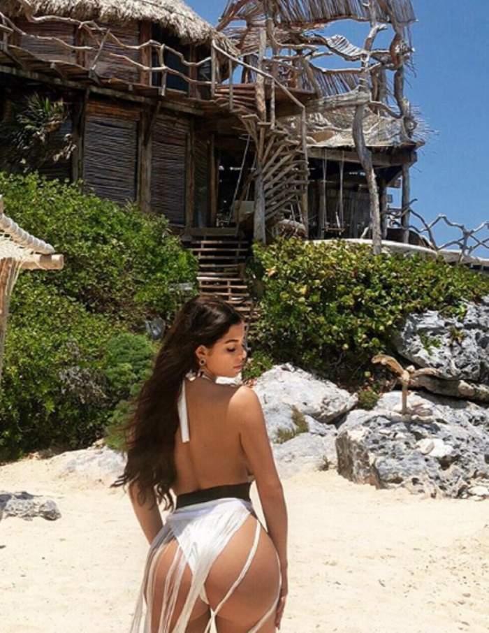 FOTO / Este considerată sosia lui Kim Kardashian, dar este mai sexy decât ea! Imagini de infarct cu focoasa brunetă