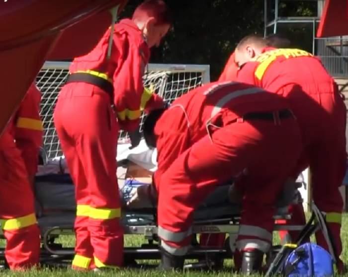 VIDEO / Accident grav în Cluj! O femeie a fost tăiată cu motocositoarea de soț