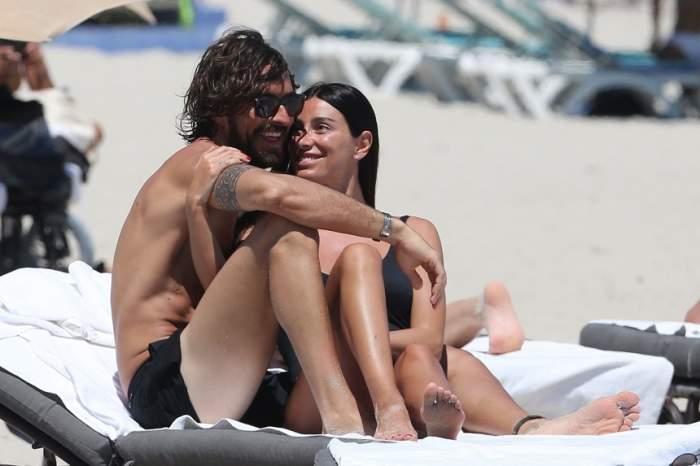 FOTO / Fosta iubită a lui Gianluca Vacchi, clipe fierbinți la malul mării alături de iubit. S-au sărutat și s-au pipăit în văzul tuturor