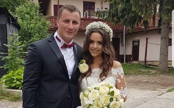 FOTO / Marian Godină a ajuns în fața altarului, alături de superba lui mireasă. Polițistul i-a transmis acesteia un mesaj inedit