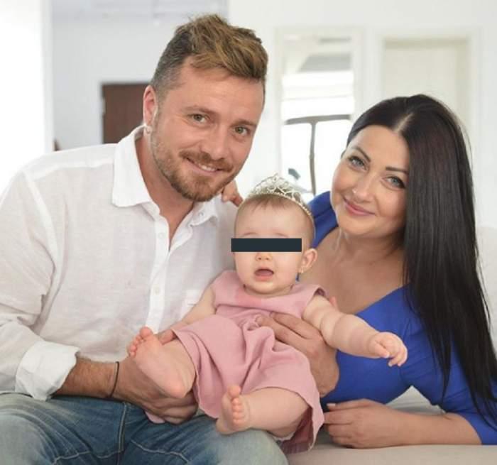 FOTO / Așa arată familia perfectă! Gabriela Cristea și Tavi Clonda, topiți după micuța Victoria