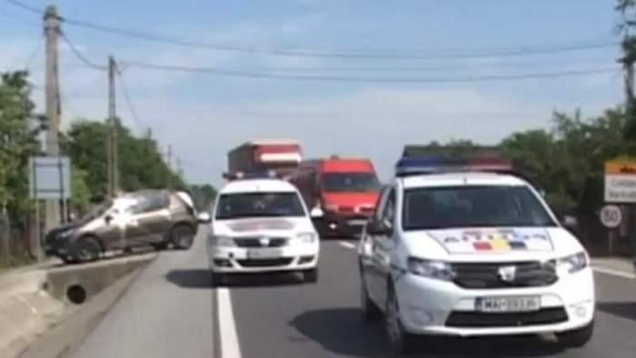 FOTO / Accident în Bistrița. O bătrână de 70 de ani a fost spulberată de un autoturism, în timp ce venea de la un priveghi