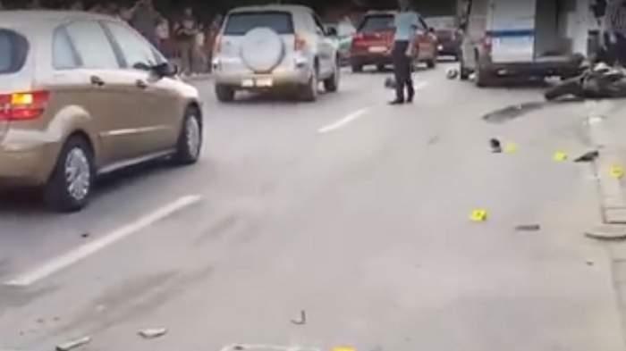 Accident îngrozitor în Cluj. O șoferiță a intrat pe contrasens și a omorât un motociclist