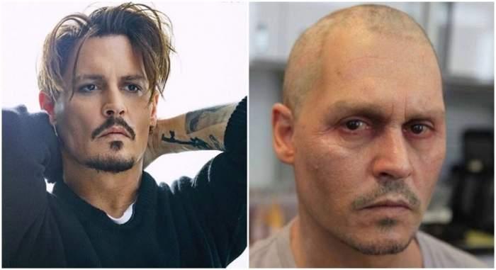 FOTO / A apărut slab şi palid, iar acum s-a ras pe cap! Johnny Depp a apărut într-o ipostază îngrijorătoare