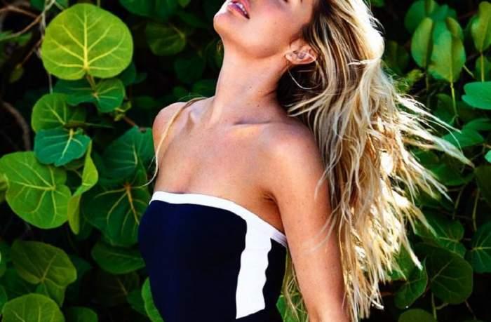 FOTO / Model Victoria's Secret, mămică pentru a doua oară. Prima imagine cu noul membru al familiei