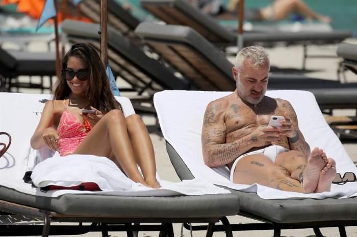 FOTO / Gianluca Vachi, scene fierbinți cu iubita, pe plajă. Milionarul nu a scăpat-o din priviri pe tânără