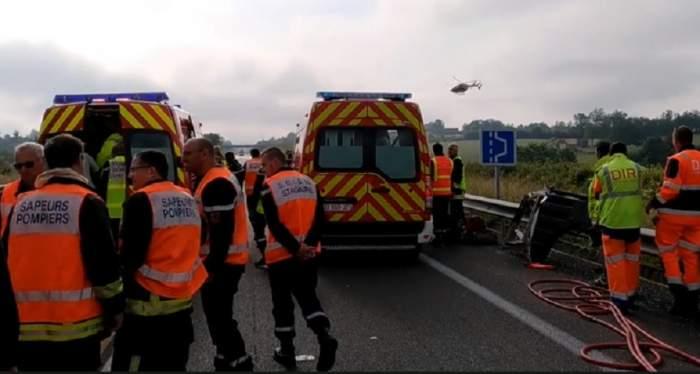 FOTO / Accident grav în Cluj. Un șofer a murit pe loc, după ce s-a izbit de o autoutilitară