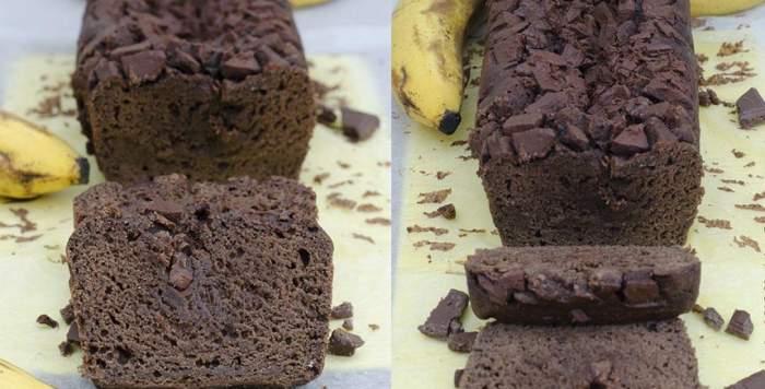 REŢETA ZILEI: Chec cu banane şi ciocolată