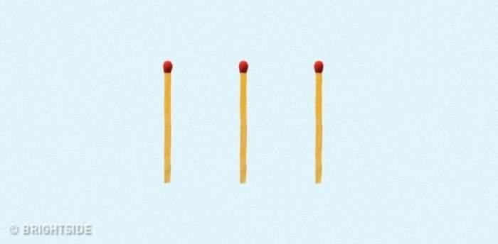 Formează cifra 6 din 3 beţe de chibrit! Poţi să rezolvi acest test? Eşti un adevărat geniu!