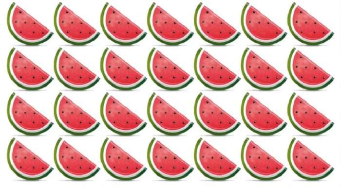TEST: Găseşte pepenele diferit din imagine! Doar 5 din 10 persoane reuşesc să rezolve acest test