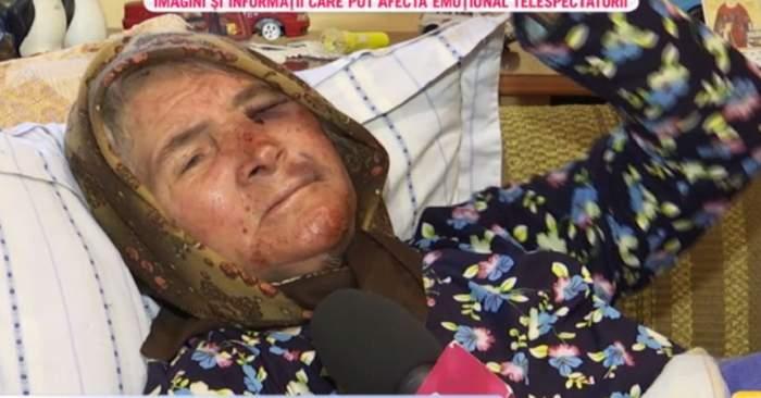 VIDEO / Bătută cu bestialitate la 71 de ani! Bătrânica a fost desfigurată şi jefuită de doi mascați
