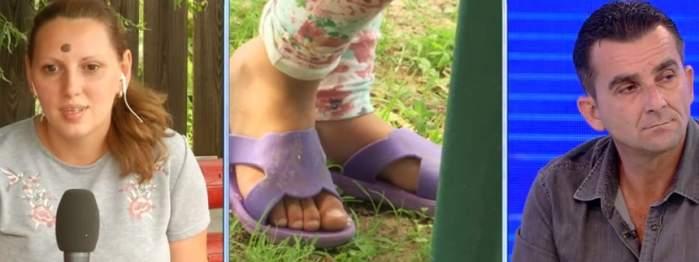 """VIDEO / Fetiță de trei ani, abuzată și bătută de tatăl vitreg: """"Am văzut negru în fața ochilor"""""""