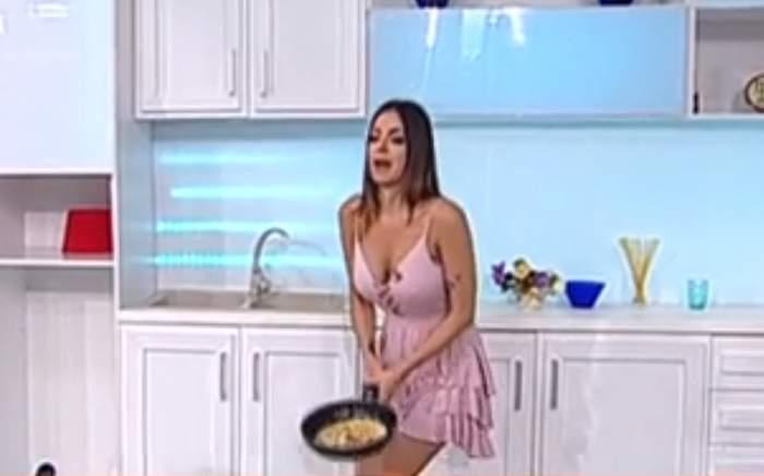 """VIDEO / Bucătăria, provocare pentru Natalia Mateuţ. Demonstraţie cu final neaşteptat în platoul """"Star Matinal"""""""