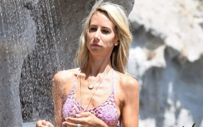 FOTO / La 41 de ani, arată ca la 60! Lady Victoria Hervey și-a arătat pieile lăsate și celulita la plajă