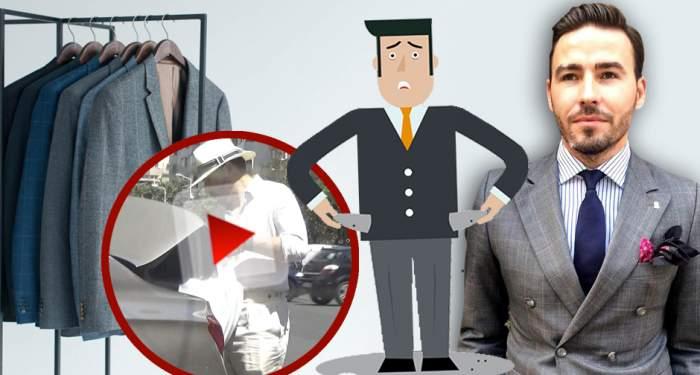 VIDEO PAPARAZZI / Se dă mare croitor, dar face haine de Obor! Imaginile care demonstreză că Adrian Cristea are probleme financiare!