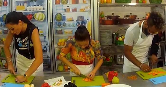 VIDEO / Brigitte şi Kamara, scandal în bucătăria vedetelor. Soţia lui Ilie Năstase, adevărată lecţie gastronomică