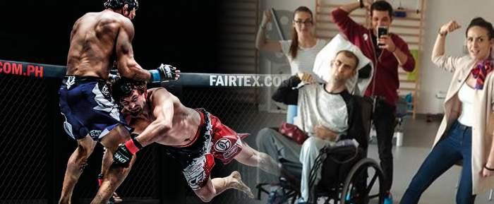 Incredibila poveste de dragoste a unui luptător MMA ajuns în scaun cu rotile! Imagini emoţionante