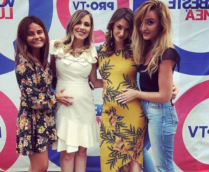 """FOTO & VIDEO / """"Război"""" între graviduţe. Adela Popescu sau Andreea Ibacka, cine este cea mai sexy mămică?"""