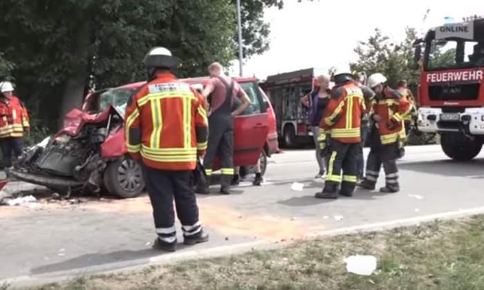 VIDEO / Accident cu şapte români, în Germania. Trei elicoptere medicale şi 80 de pompieri au intervenit de urgenţă