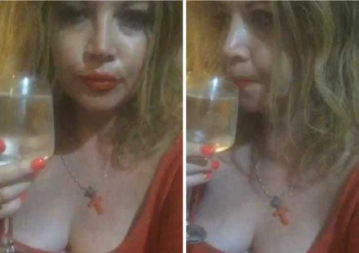VIDEO / Ce-i mai place păhărelul! Oana Lis, filmată la un eveniment monden, înecându-şi amarul