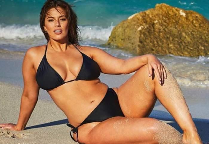 FOTO / E cel mai sexy model plus-size din lume, dar s-a pus pe slăbit! Ashley Graham vrea să scape de formele voluptoase