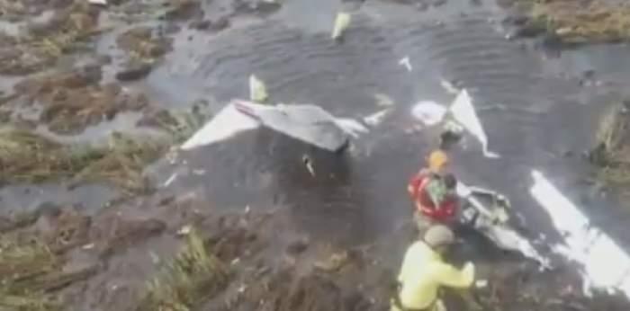 FOTO&VIDEO / Niciun supraviețuitor, în urma prăbușirii unui avion de mici dimensiuni. La bord se afla un oficial al Guvernului