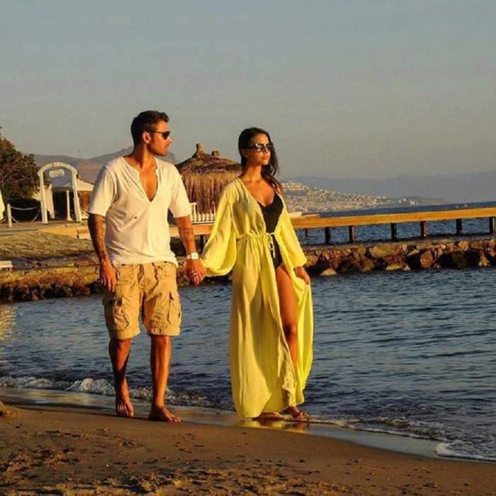 FOTO / Soția lui Adi Mutu, bombă sexy pe plajele din Dubai! Sandra e una dintre cele mai hot mămici