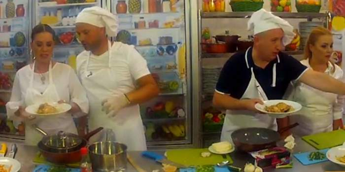 VIDEO / Luminiţa Anghel şi Andrei Ştefănescu, duel în bucătărie cu Lupu şi Cornelia Rednic. Imagini de senzaţie!