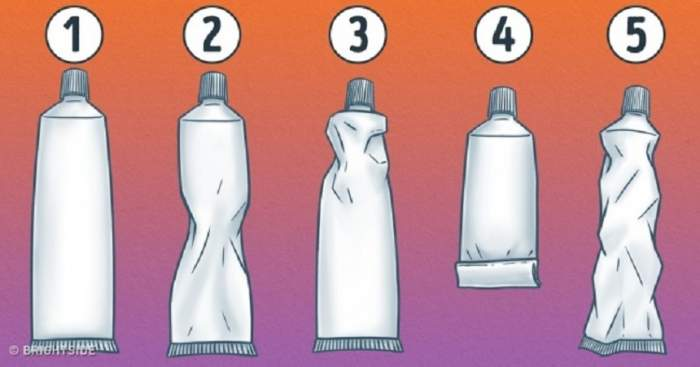 Tubul de pastă de dinţi îţi dezvăluie personalitatea. Ce imagine ai ales?