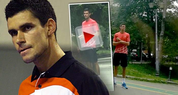 VIDEO PAPARAZZI / Prima apariţie a lui Victor Hănescu după ce a anunţat că divorţează! Celebrul jucător de tenis e de nerecunoscut!