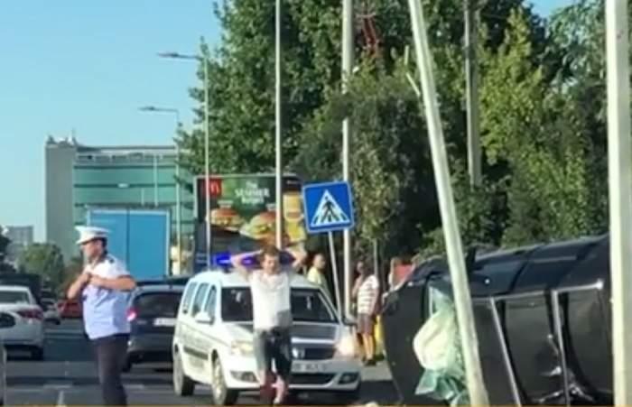 VIDEO / Pericol de explozie în Pipera! O şoferiţă a provocat un accident grav
