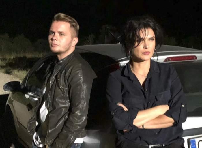 VIDEO / Monica Bîrlădeanu şi Codin Maticiuc, la un pas de tragedie! A tras de volan în ultimul moment